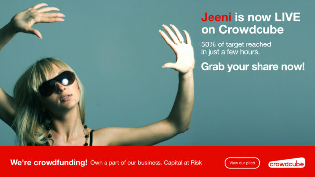 Jeeni raised 50% of its investment in just a few hours of going live on Crowdcube